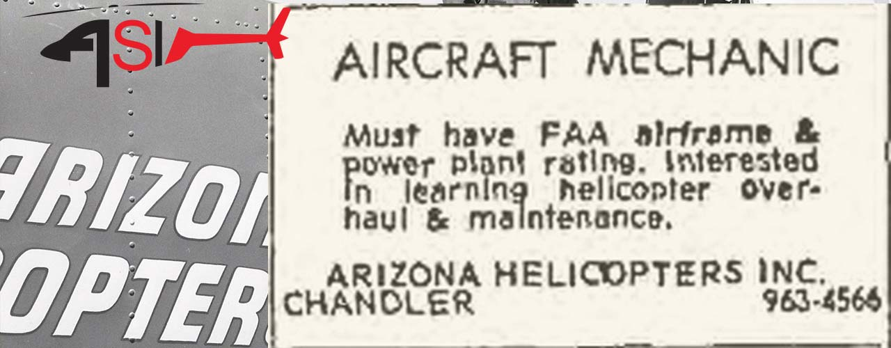 1967 Arizona Helicopters Job Advert